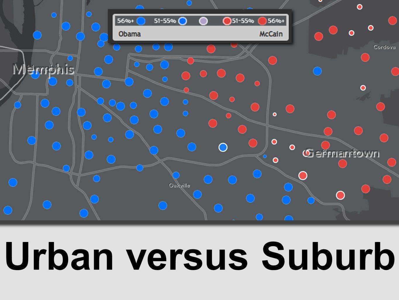 Urban versus Suburb
