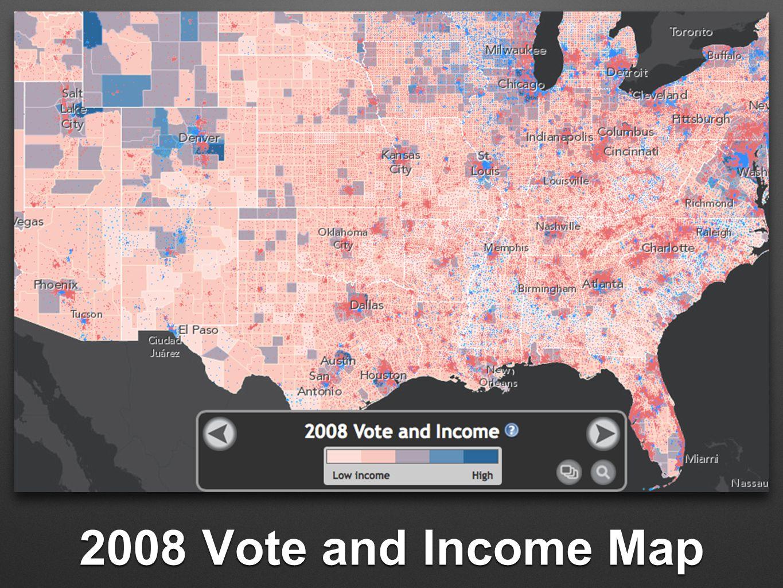 2008 Vote and Income Map