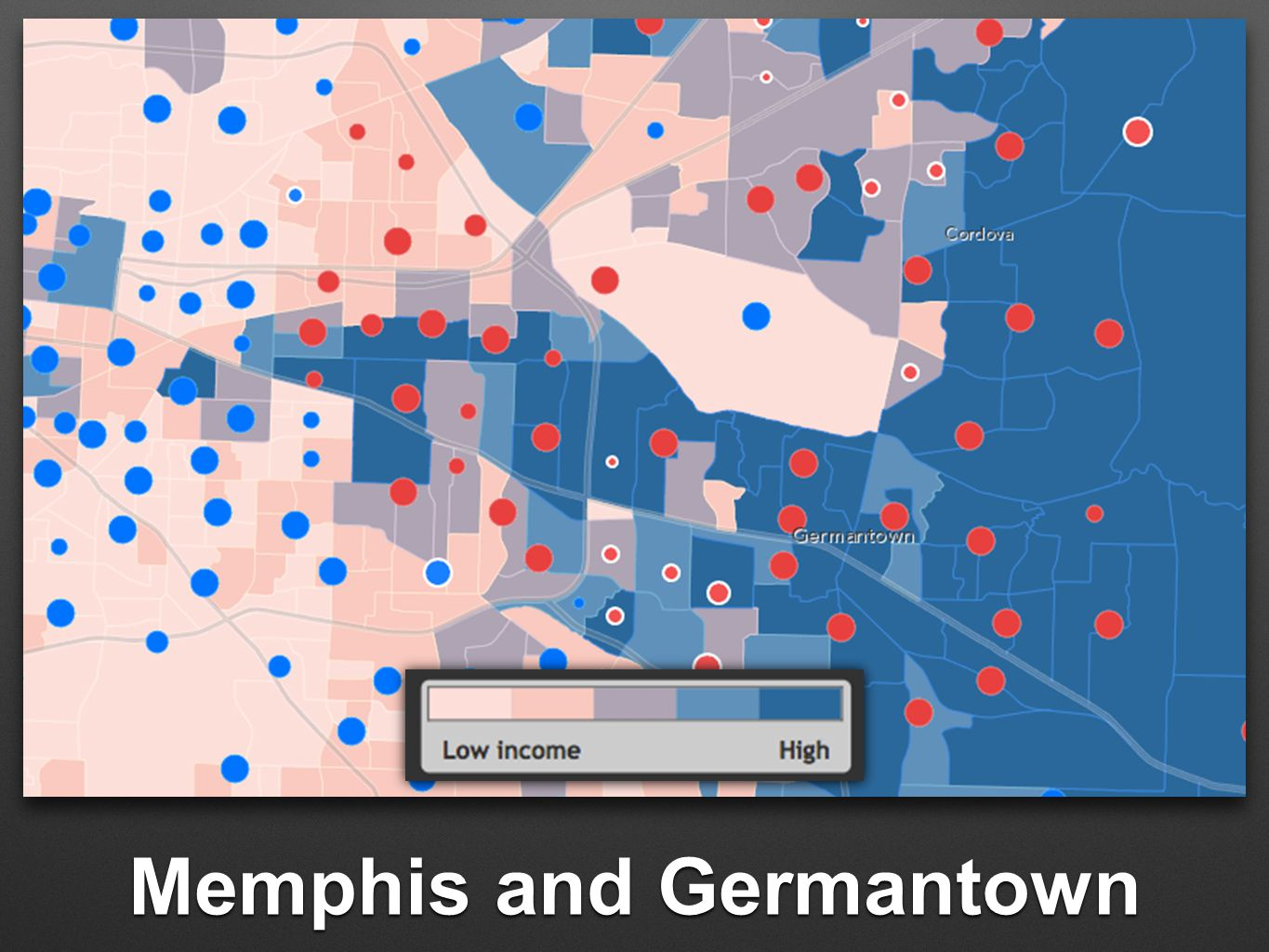 Memphis and Germantown