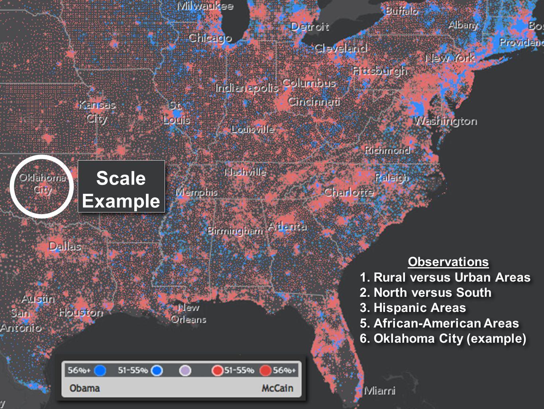 Observations 1.Rural versus Urban Areas 2. North versus South 3.