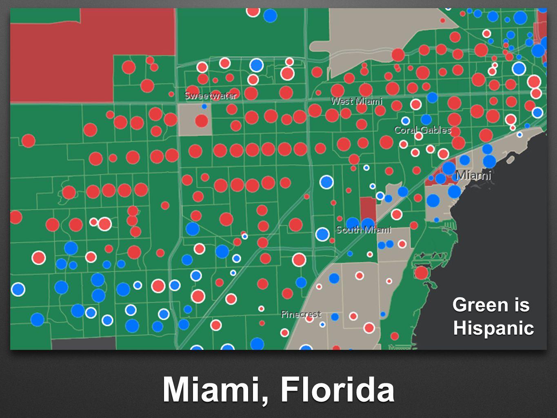 Miami, Florida Green is Hispanic