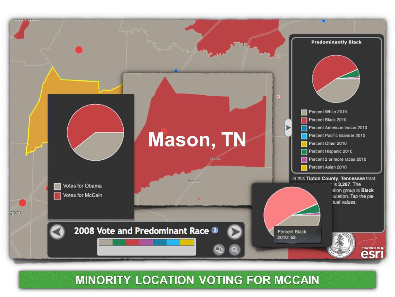 Mason, TN MINORITY LOCATION VOTING FOR MCCAIN