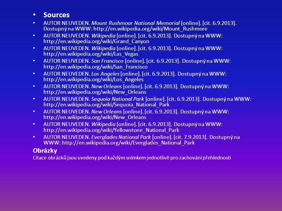 Sources AUTOR NEUVEDEN. Mount Rushmoor National Memorial [online].