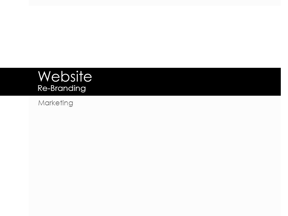 Website Re-Branding Marketing