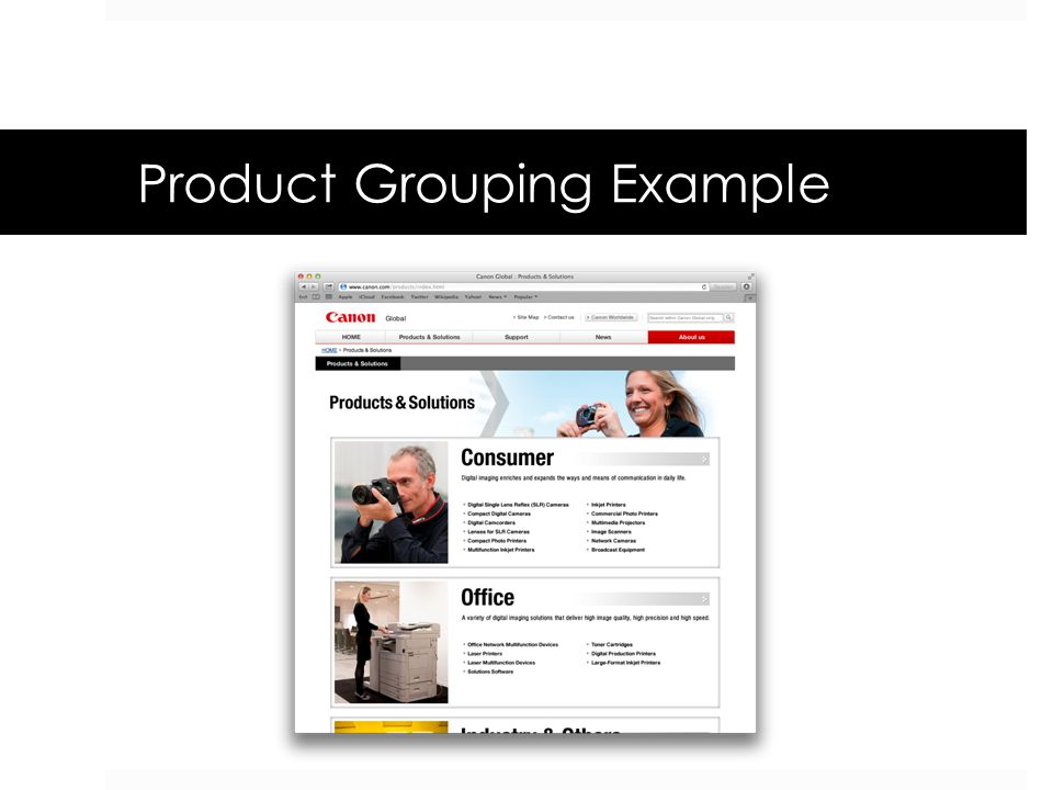 Product Grouping Example