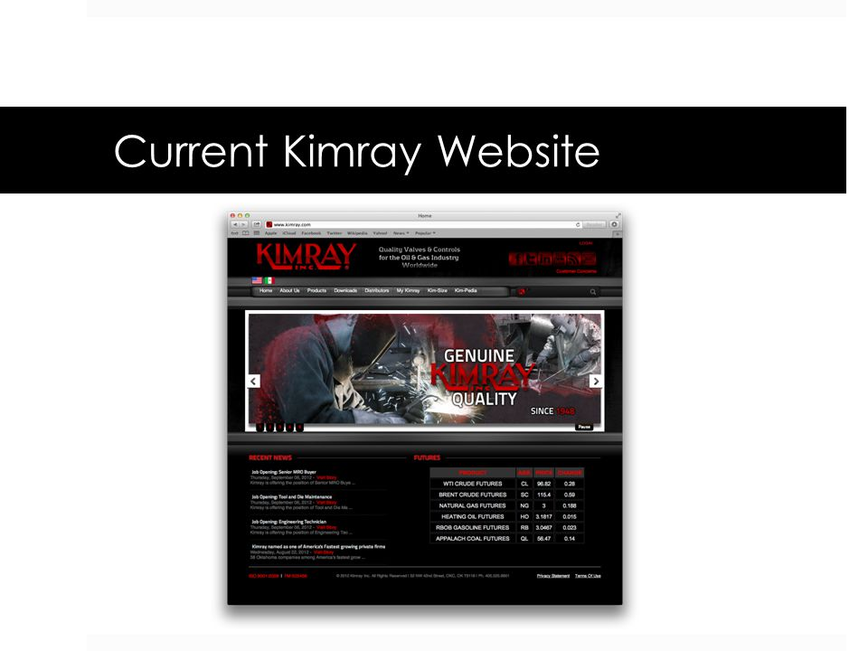 Current Kimray Website