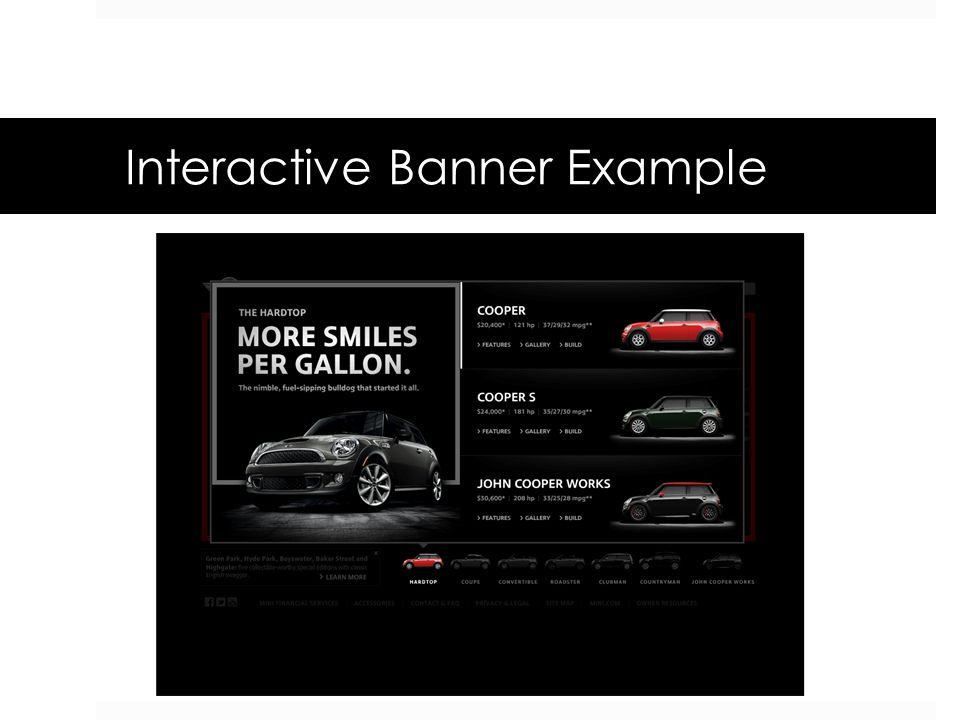Interactive Banner Example
