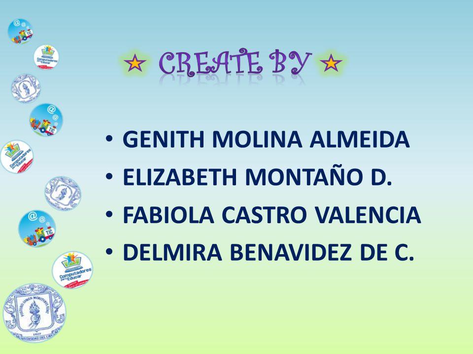 GENITH MOLINA ALMEIDA ELIZABETH MONTAÑO D. FABIOLA CASTRO VALENCIA DELMIRA BENAVIDEZ DE C.