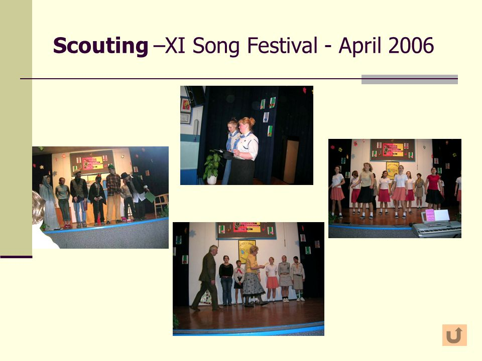 Scouting –XI Song Festival - April 2006