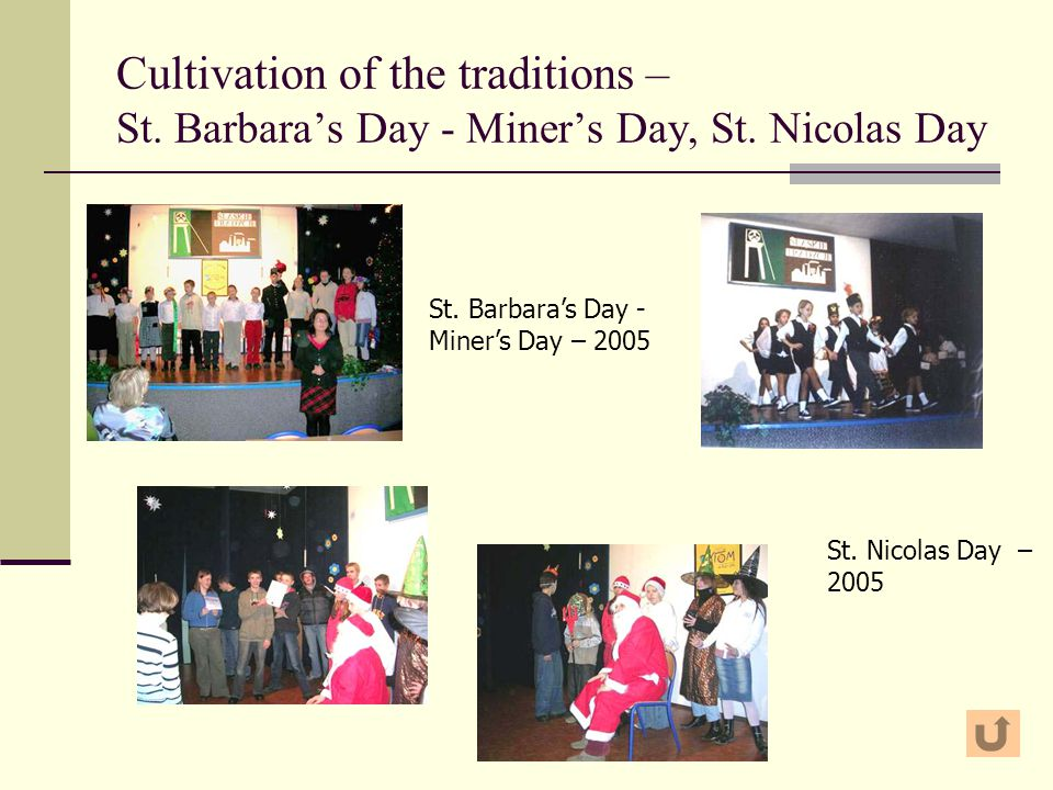 Cultivation of the traditions – St. Barbara's Day - Miner's Day, St.