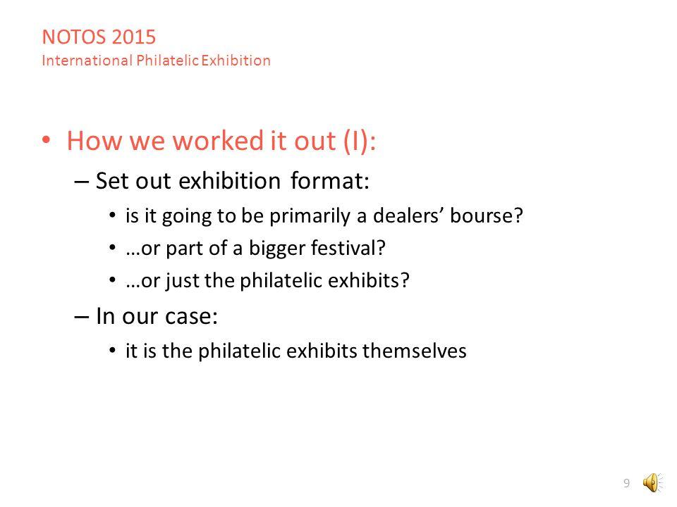 NOTOS 2015 International Philatelic Exhibition 59 Athens city centre Exhibition venue