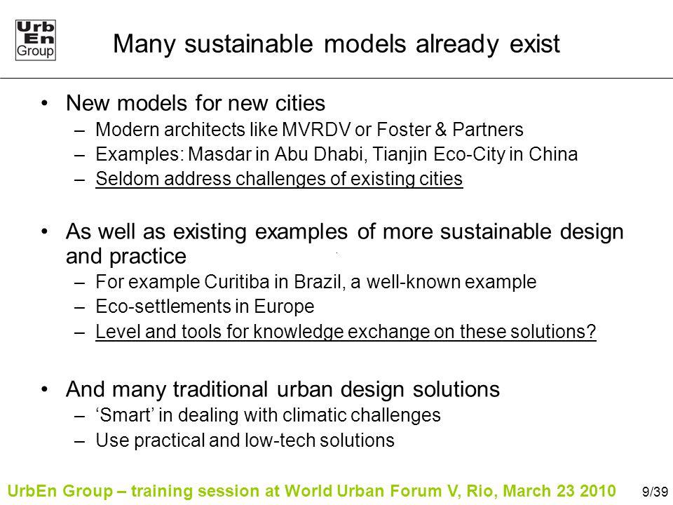 UrbEn Group – training session at World Urban Forum V, Rio, March 23 2010 Part 3: Urban Design Toolkit