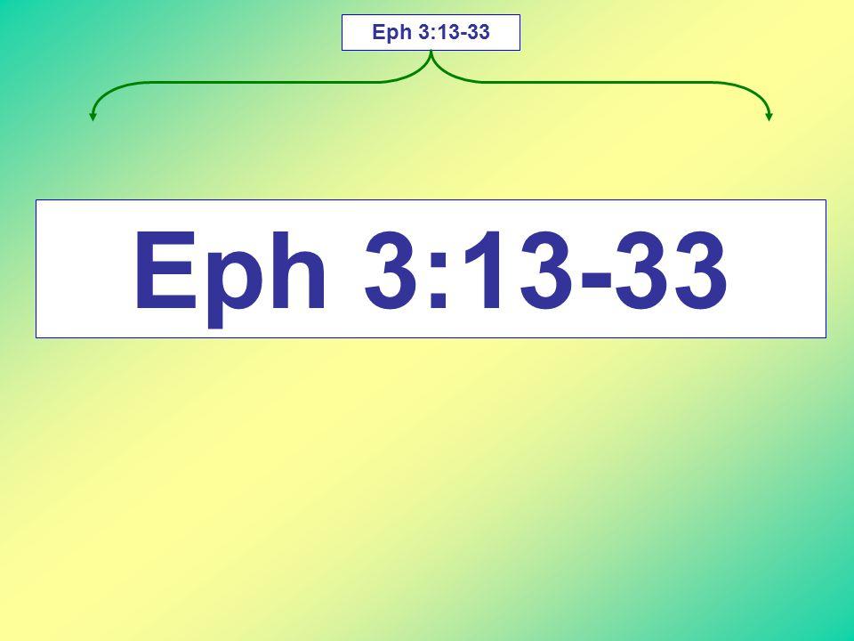 Eph 3:13-33