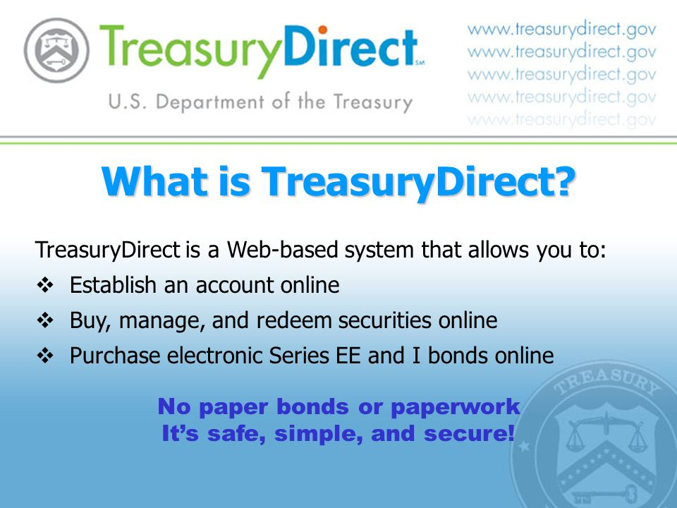 What is TreasuryDirect.