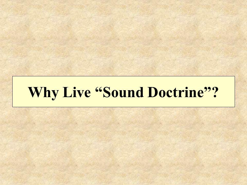 Why Live Sound Doctrine
