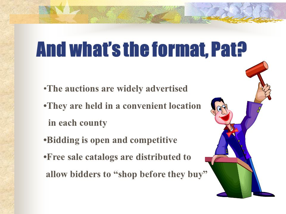 And what's the format, Pat.