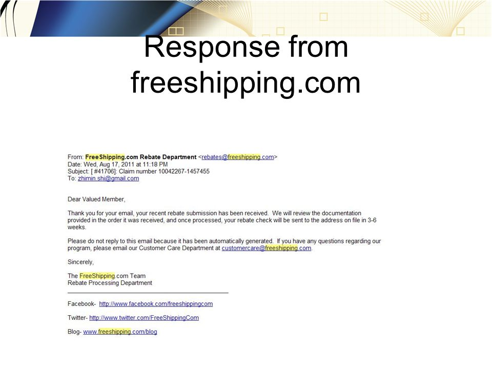 Response from freeshipping.com