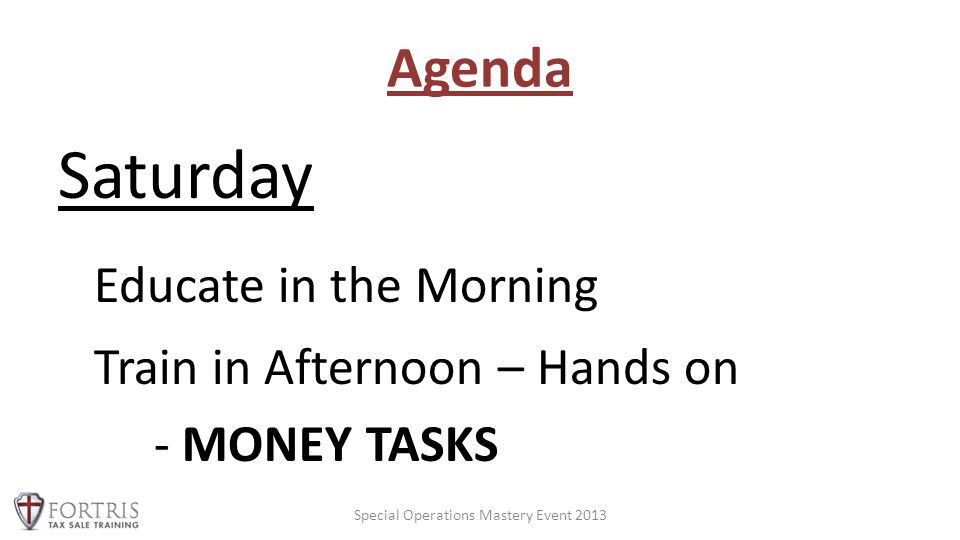 Agenda Sunday Expanding and Optimizing - IRAs, Private Money, Outsourcing Rehab Network, etc.