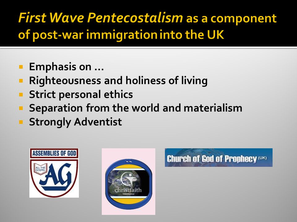 3.The significance of Nigerian Pentecostal churches within the religious and spiritual context of 21 st century UK Christianity.