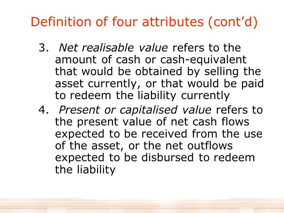 Definition of four attributes (cont'd) 3.