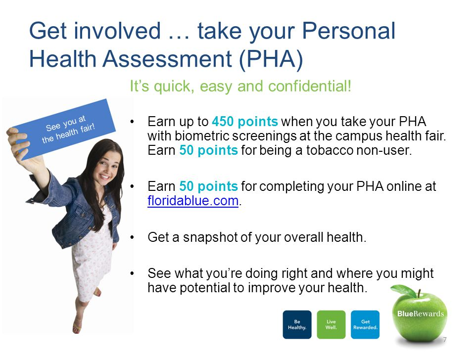 Get involved … take your Personal Health Assessment (PHA) It's quick, easy and confidential.