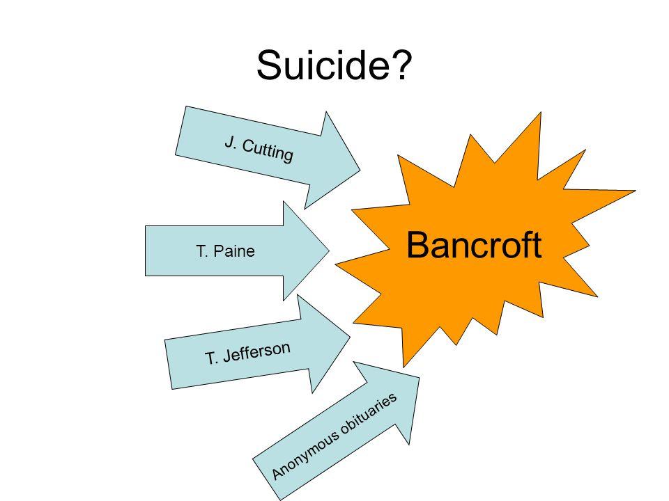 Suicide? Bancroft T. Paine T. Jefferson J. Cutting Anonymous obituaries