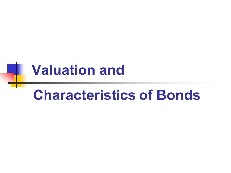 Bond Valuation $45 $41 $38 012 3 $50 $50 $50 50 (1 +.10) 1 50 (1 +.10) 2 50 (1 +.10) 3 $124 Present Value of the Interest Payments plus the Present Value of the Maturity Value $751 $1,000 (1 +.10) 3 $876 = Vb Whenever interest rates go up bond values fall.