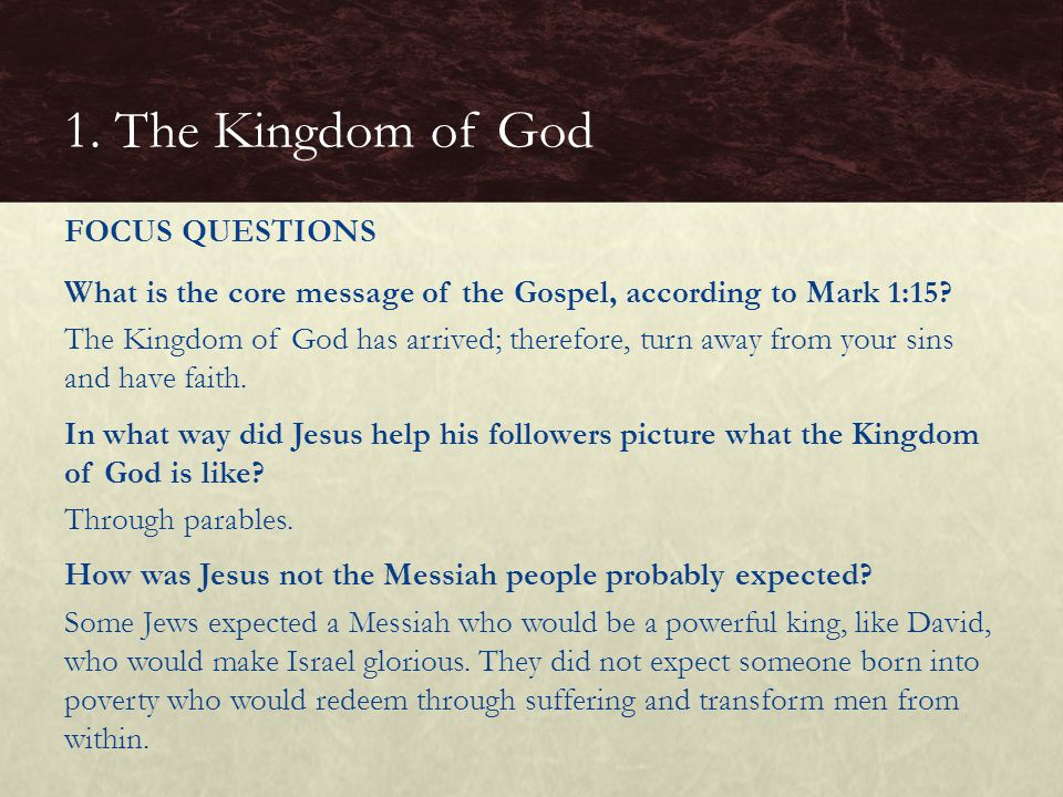 BASIC QUESTIONS  What are the marks of the Church.