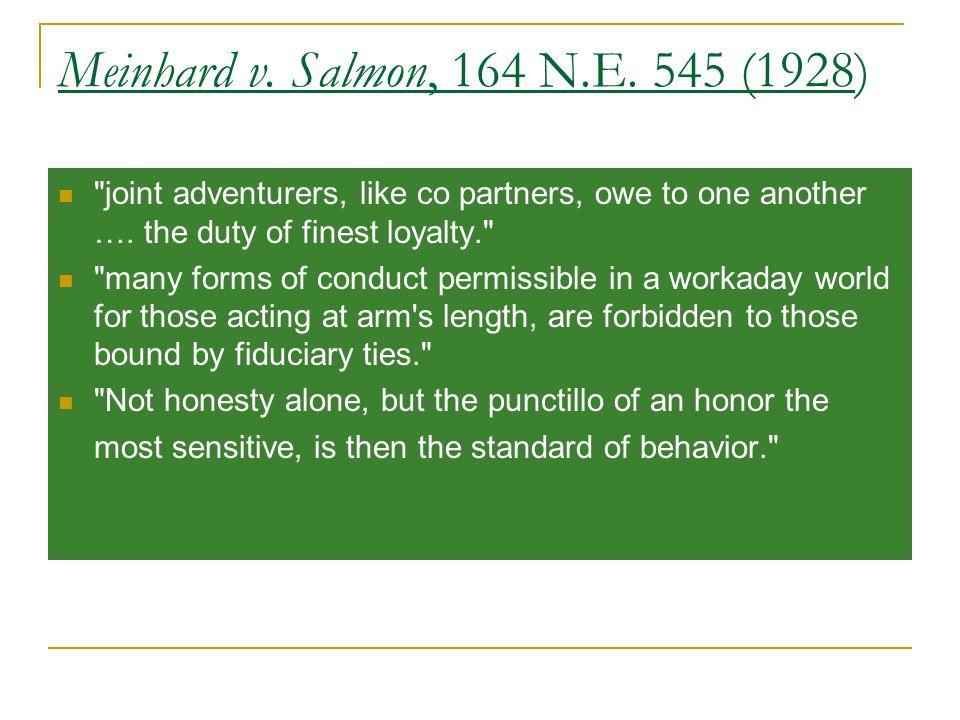 Meinhard v. Salmon, 164 N.E.