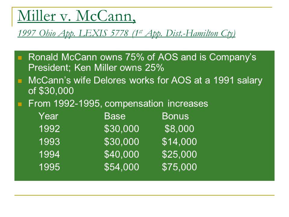 Miller v. McCann, 1997 Ohio App. LEXIS 5778 (1 st App.