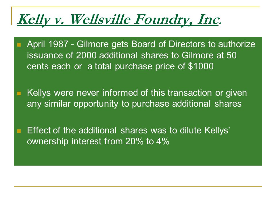 Kelly v. Wellsville Foundry, Inc.