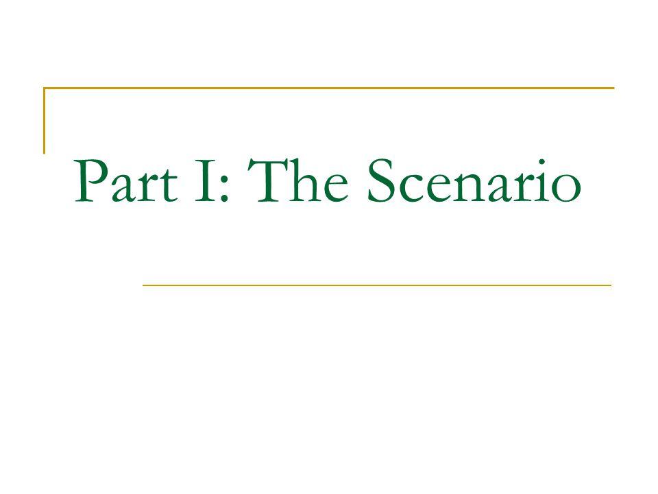 Part I: The Scenario