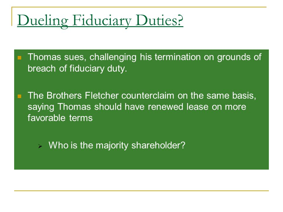 Dueling Fiduciary Duties.