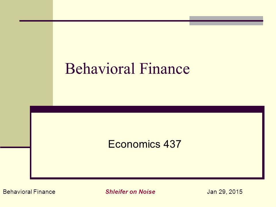 Behavioral Finance Shleifer on Noise Jan 29, 2015 Open End Funds are the Typical An investors sends cash to the mutual fund to buy a unit interest in the fund The fund takes the investor's cash and buys securities in exactly the same proportions as exist in the current fund When an investor sells his unit interest, the fund liquidates shares in the funds to redeem the investor's interest