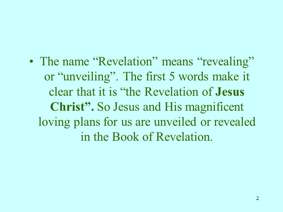 12 8.What is this book that only Jesus can open. Rev.