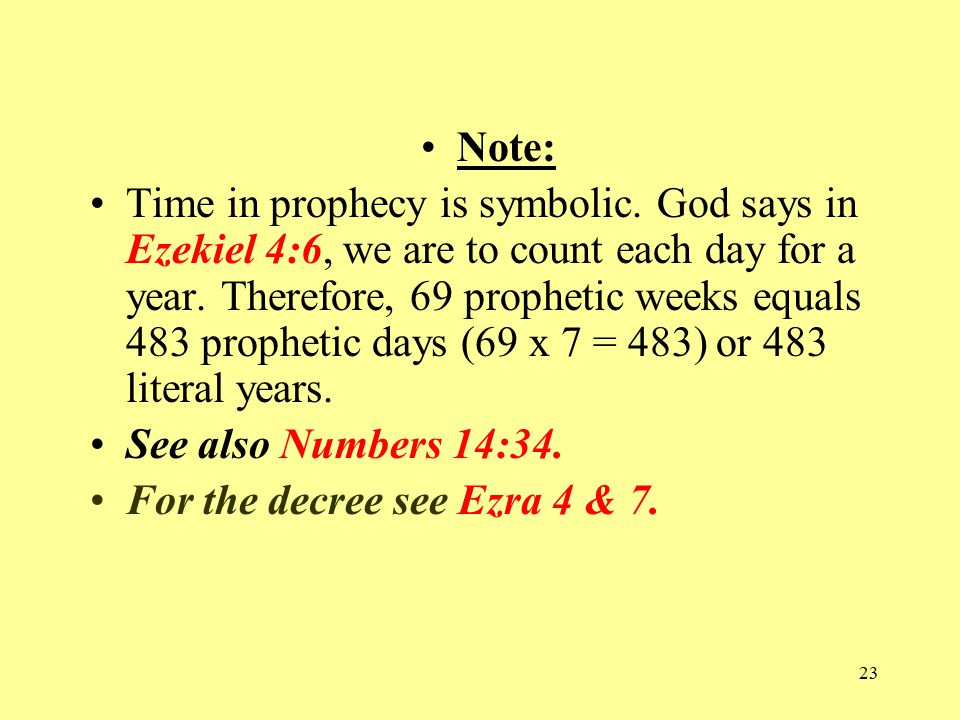22 14. When was the Messiah to appear.