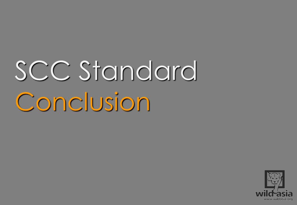 SCC Standard Conclusion