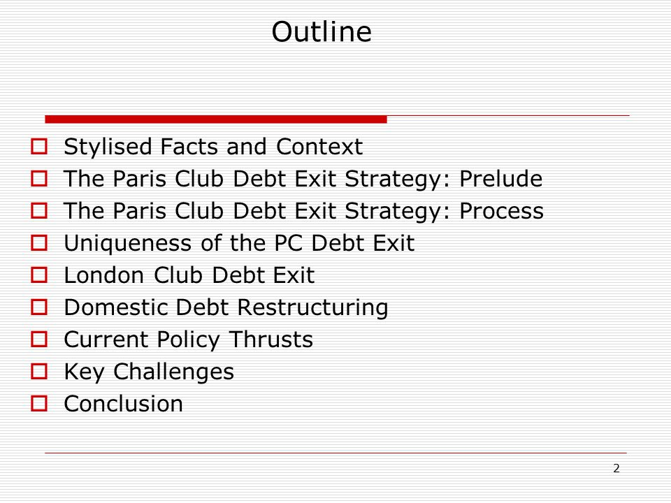 3 Stylised Facts and Context  1973-1985: Boom and Bust External debt negligible between 1970 and 1973 1980-1982 oil slump leading to drop in oil revenues from US$25 billion in 1980 to US$12 billion in 1982 to US$6 billion in 1986 Wasteful consumption, 'white elephant projects, uneconomic projects, etc.