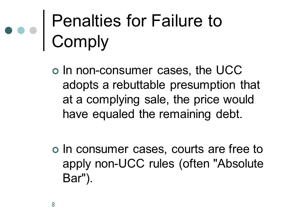 9 Disposition Disposition must be at a commercially reasonable sale .