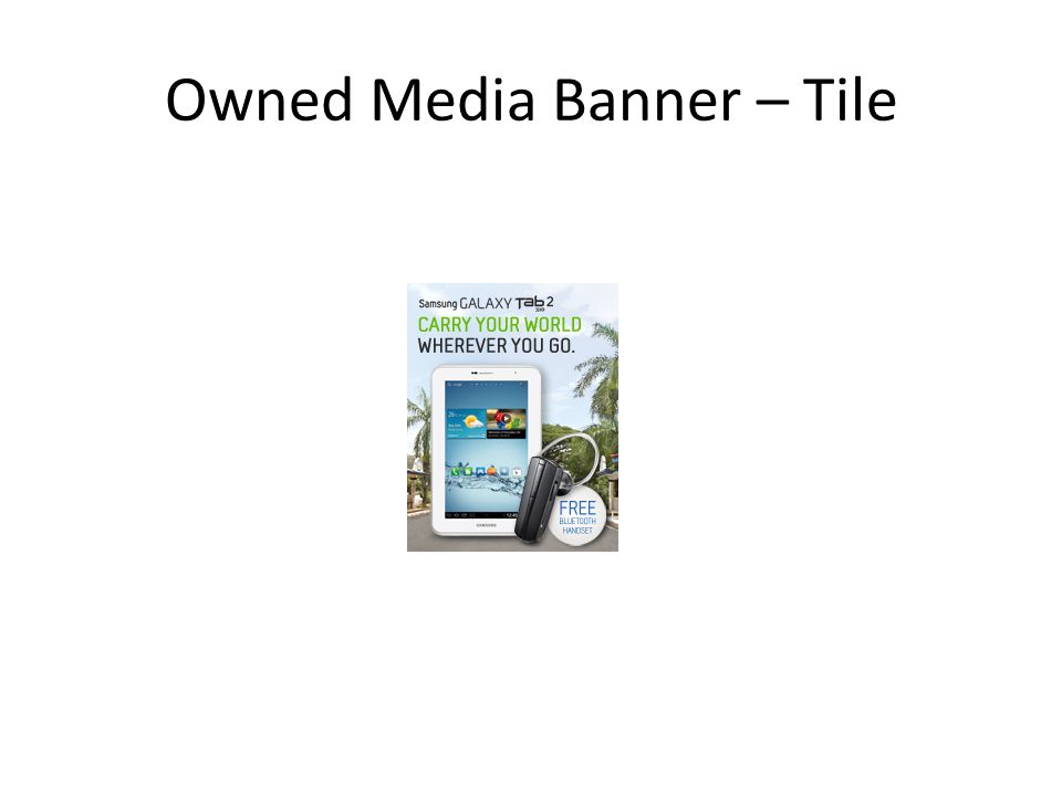 Owned Media Banner – Tile