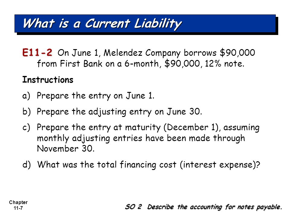 Chapter 11-8 E11-2 E11-2 On June 1, Melendez Company borrows $90,000 from First Bank on a 6-month, $90,000, 12% note.