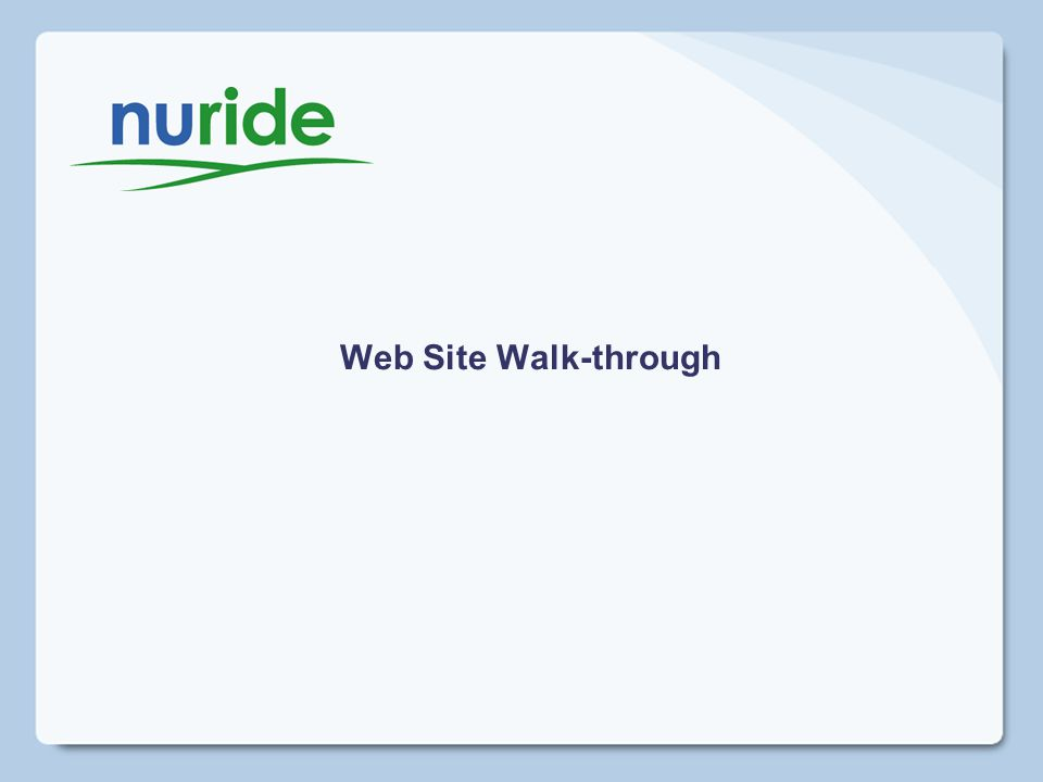 Web Site Walk-through