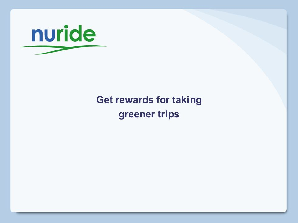 Get rewards for taking greener trips