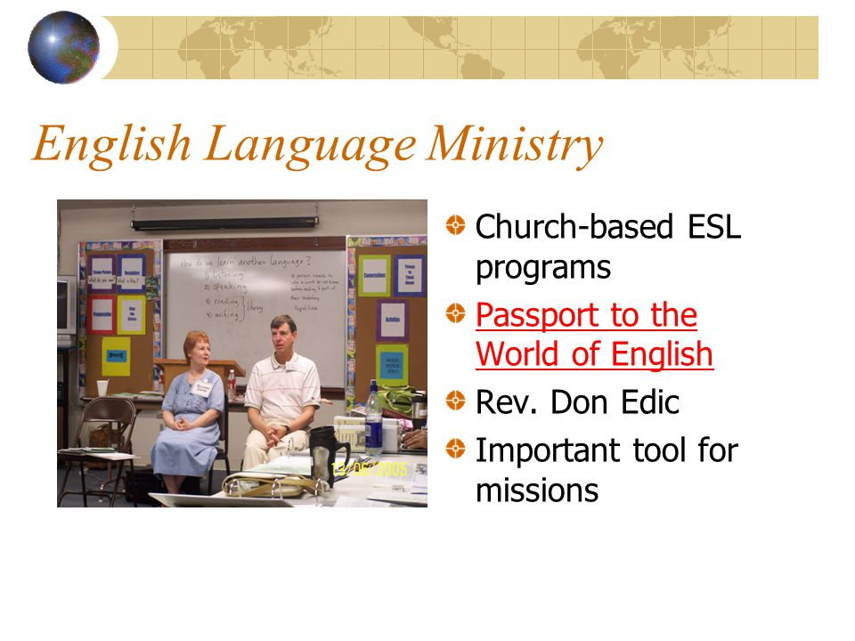 LEI Missionaries 40+ people serving with LEI working around the globe. Application process, graduate ILTI, finish orientation and 2 year internship Fa
