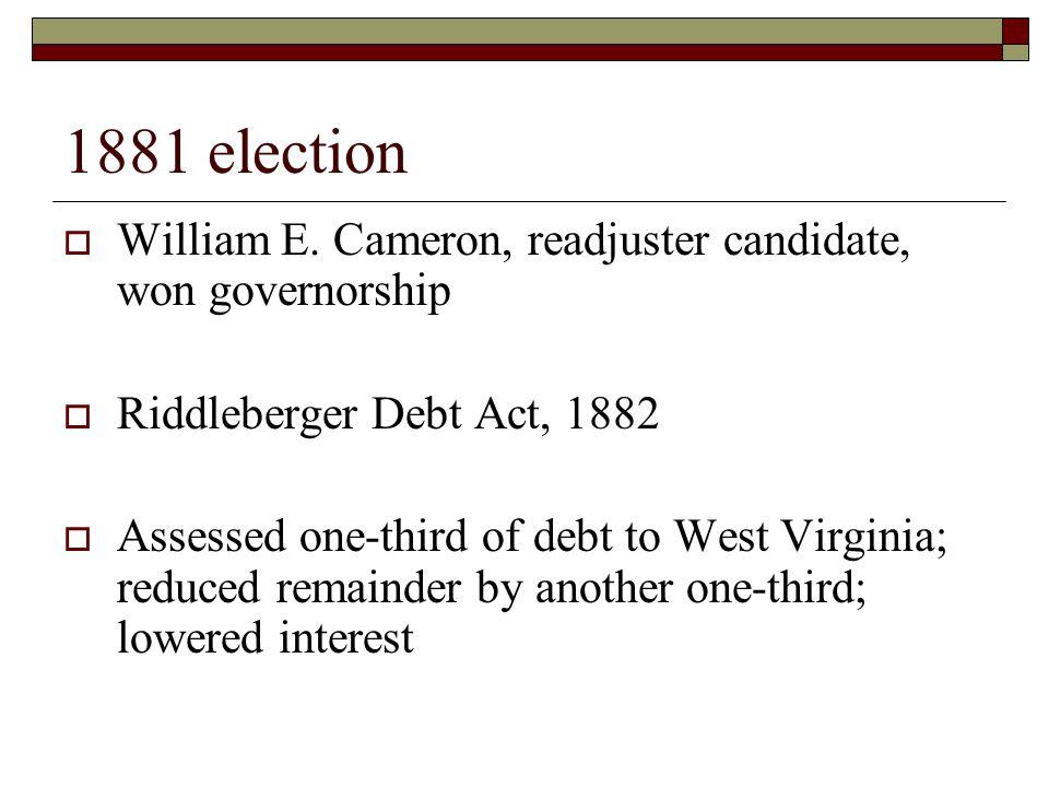 1881 election  William E.