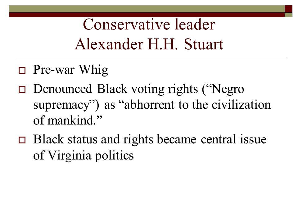 Conservative leader Alexander H.H.