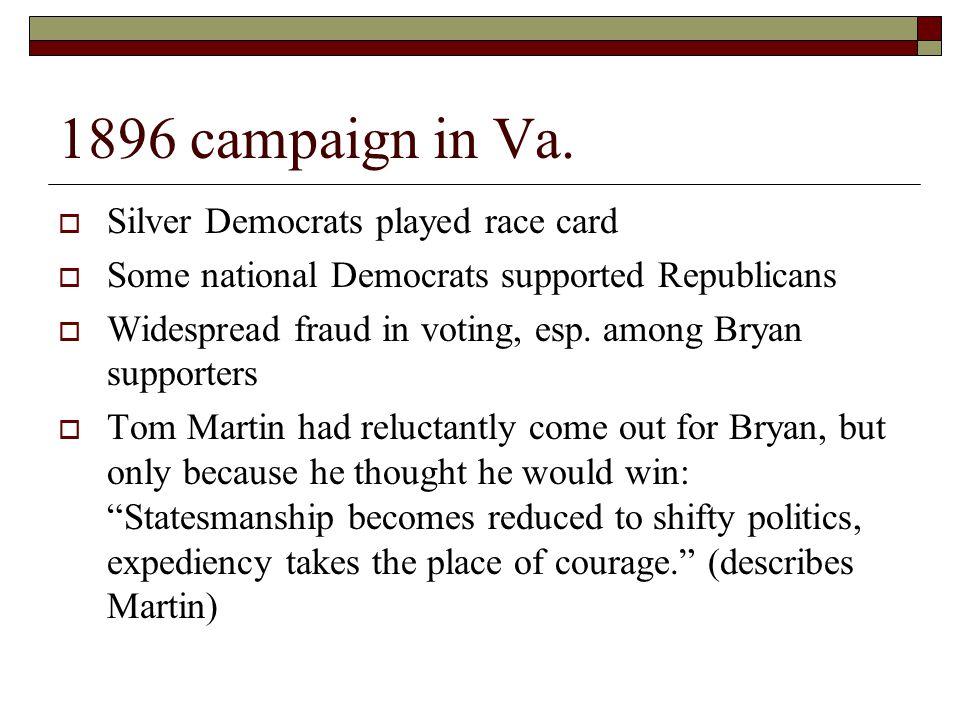 1896 campaign in Va.