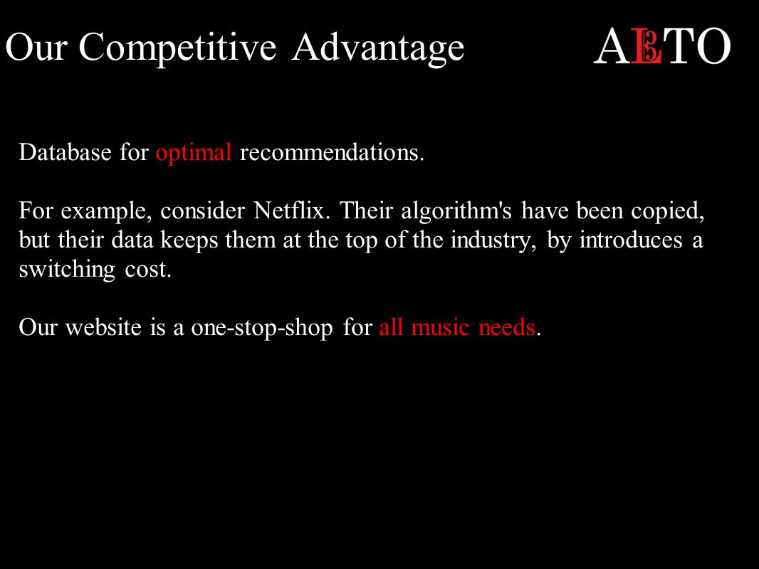 Our Competitive Advantage Database for optimal recommendations.