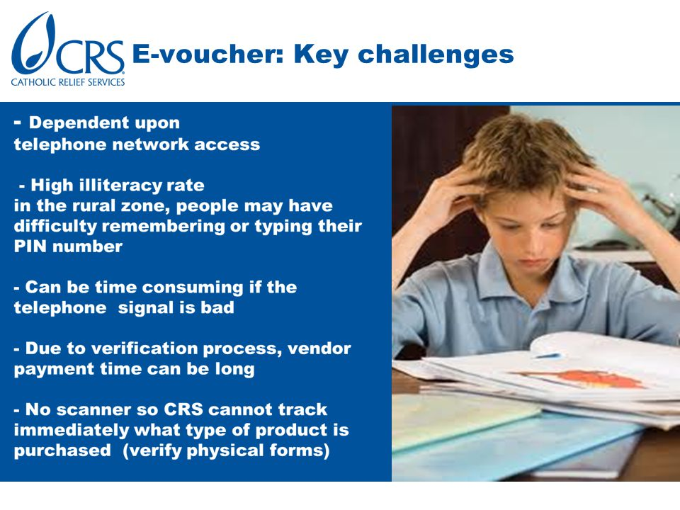 E-voucher: Key challenges
