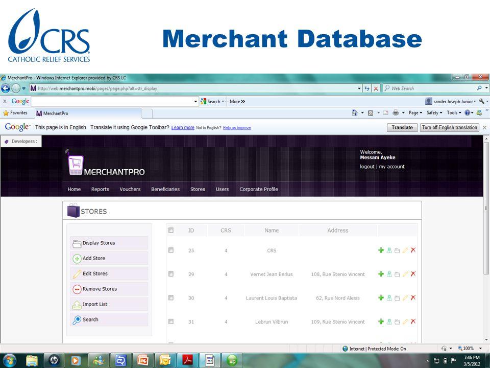 Merchant Database